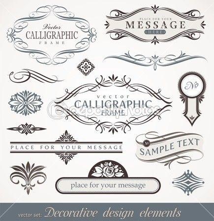 Vector trang trí yếu tố thiết kế thư pháp & Trang trí nội thất - Cổ Illustration # 6294723
