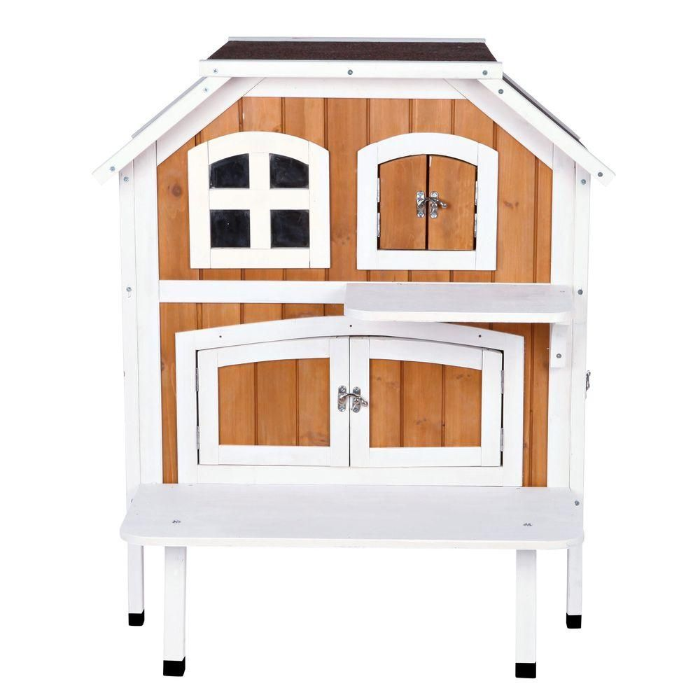 Trixie 70 75 In X 38 5 In X 70 75 In Wooden Outdoor Cat House 44110 The Home Depot Outdoor Cat House Cottage Outdoor Wooden Cat