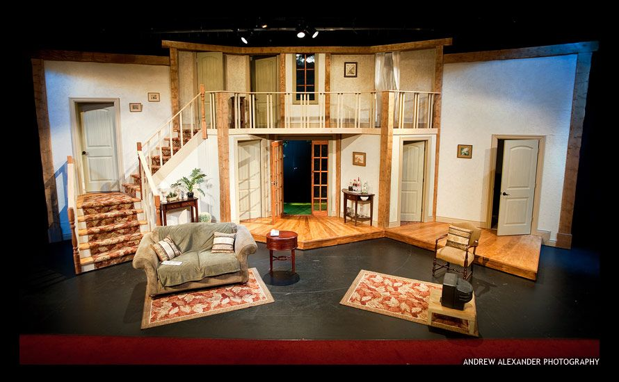 Charming Antaeus Workshops Noises Off SET Set Design Theatre, Stage Design, Prop  Design, Scenic