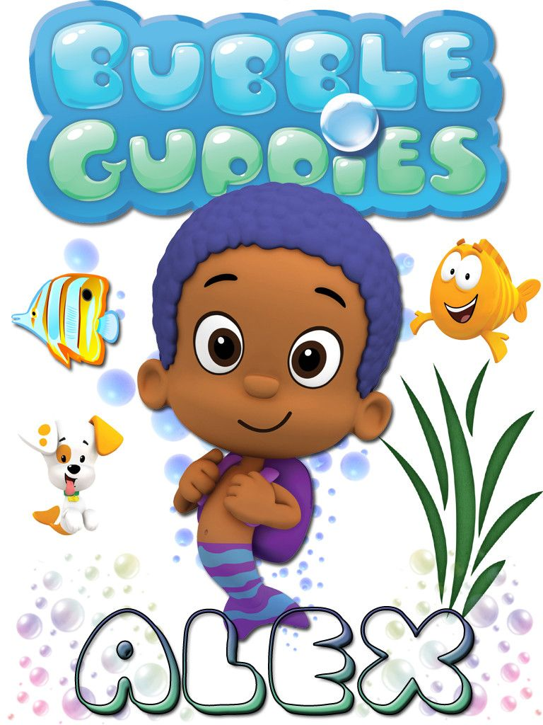 Personalized Custom NAME T-shirt Bubble Guppies Goby | Muñecas de ...