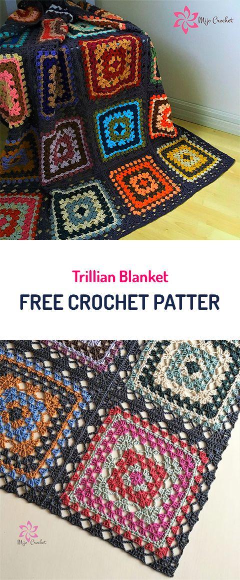 Trillian Blanket Free Crochet Pattern #crochet #diy #homedecor ...