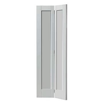 The Calypso Antigua White Primed Bi Fold Door Is Popular As A Space Saving Cupboard Door Option Or As A Quirky Door For Between Rooms Anti Contemporary Internal Doors Contemporary Doors Internal Doors