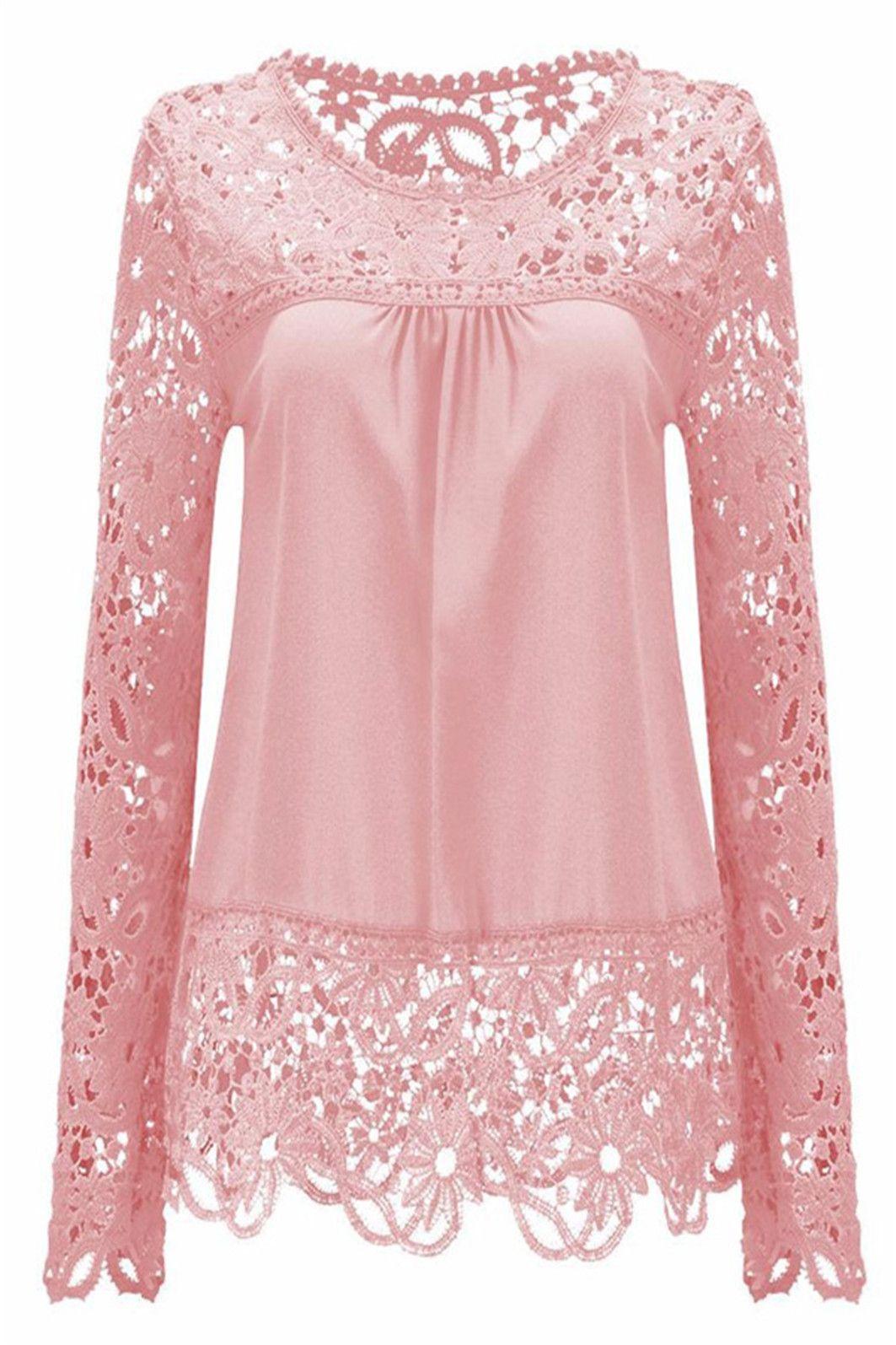 New Womens Plus Size Top Ladies Polo Neck Shirt Lace Floral Tunic Long Nouvelle