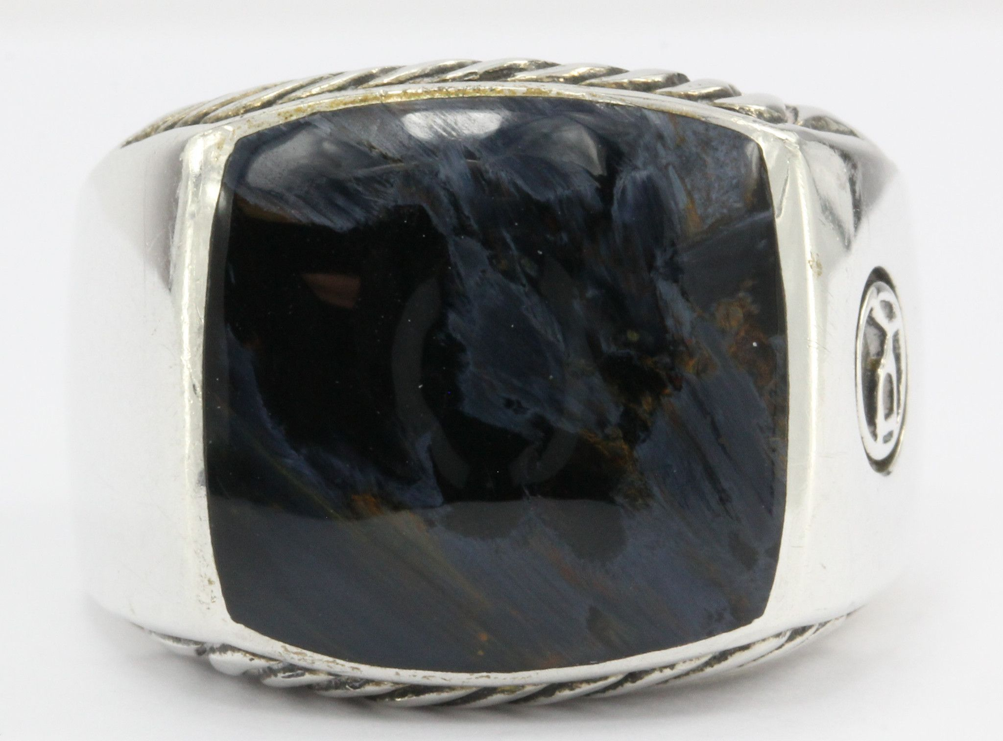 sterling silver ring rings s pin kohl men pietersite and