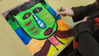 Third Grade Expressive Paintings Inspired by Fred Babb | Deep Space Sparkle