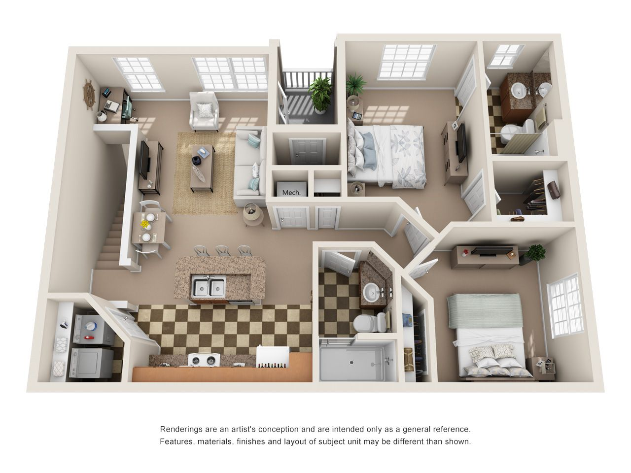 Studio One Two And Three Bedroom Apartments In Antioch Apartment Floor Plans Sims House Design Apartment Plans