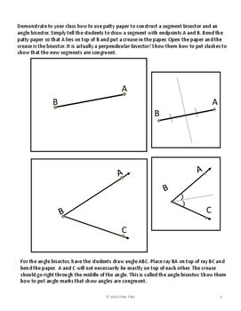 Segment And Angle Bisector Constructions Segmentation Free Math