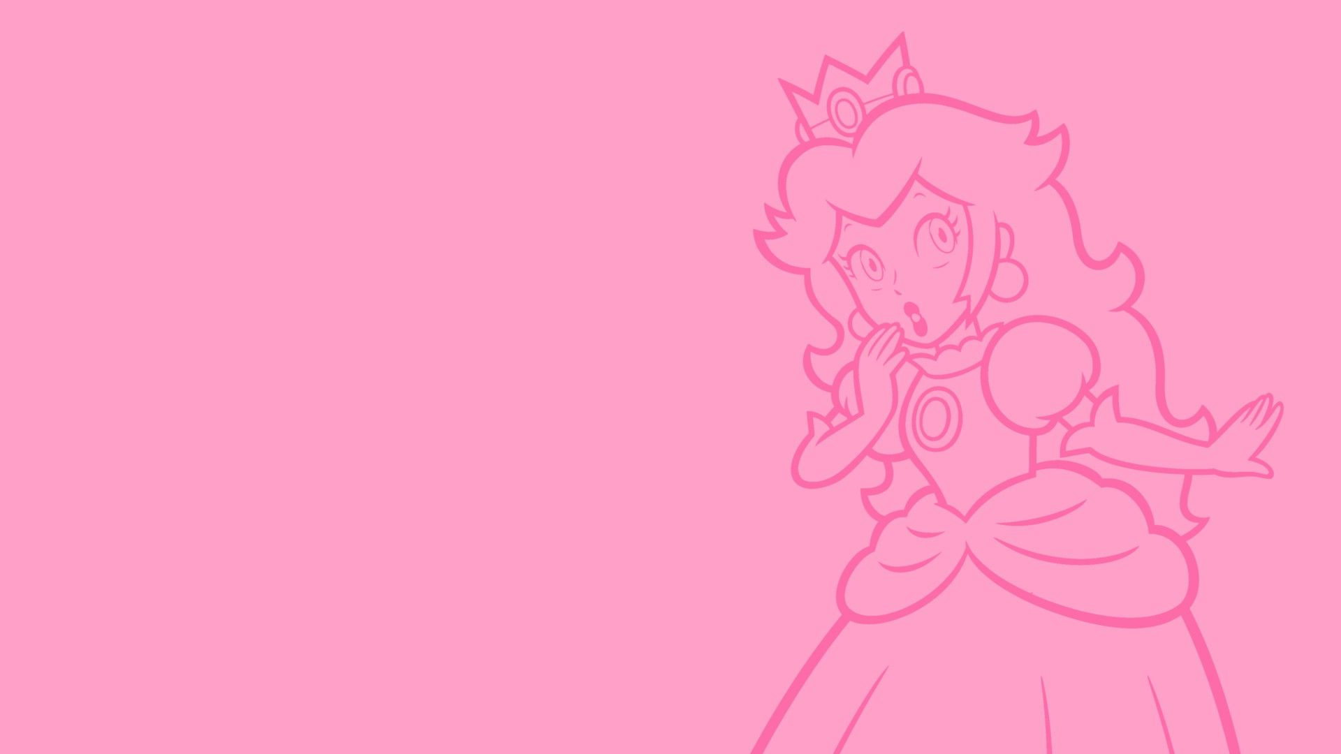 Download Hd Wallpapers Of 397095 Princess Peach Video Games Super Mario Nintendo Minimalism F Peach Wallpaper Iphone Background Wallpaper Peach Background