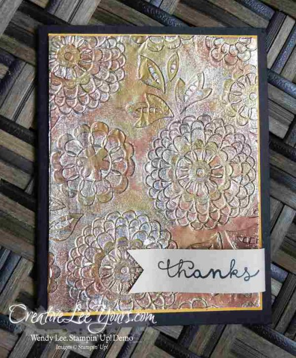 embossing with foil  creativelee yours  embossed cards