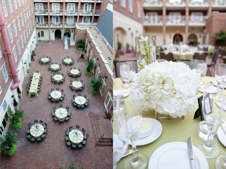 The Courtyard At Hotel Monaco Alexandria Old Town Wedding Photography Inspiration