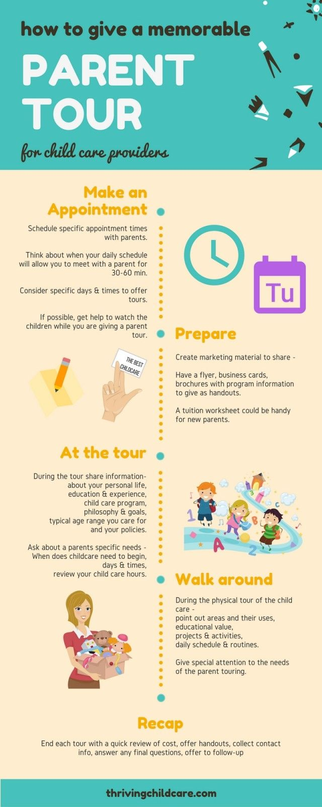 How To Give A Parent Tour INFOGRAPHIC Thrivingchildcare