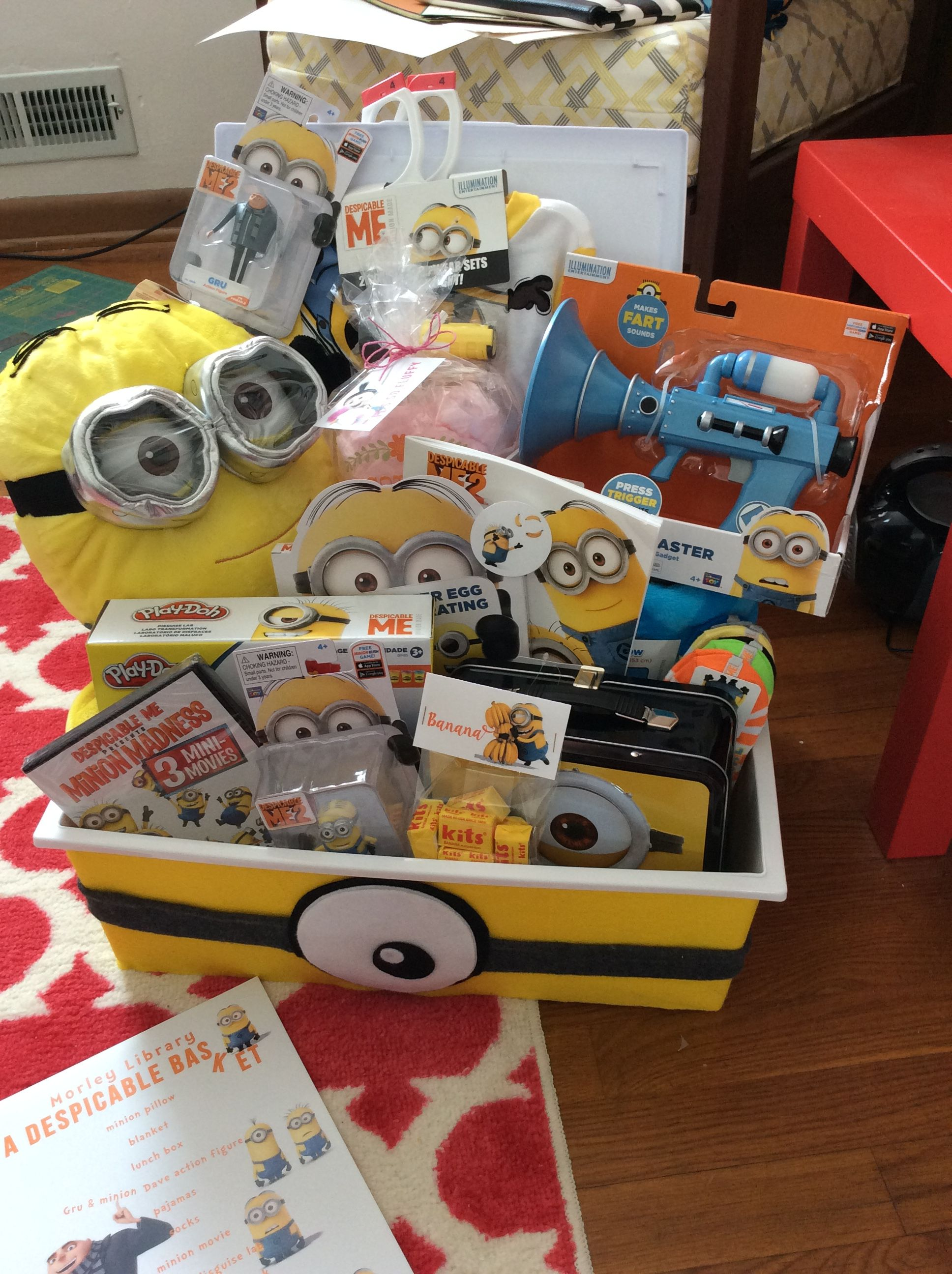 Despicable Me Minion Gift Basket
