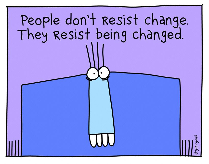 People Don't Resist Change