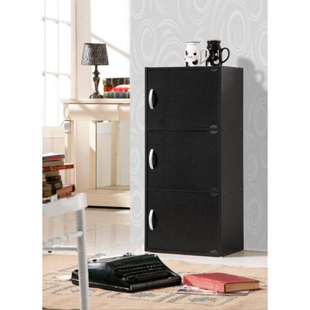 door wooden black storage cabinet living room furniture stand end
