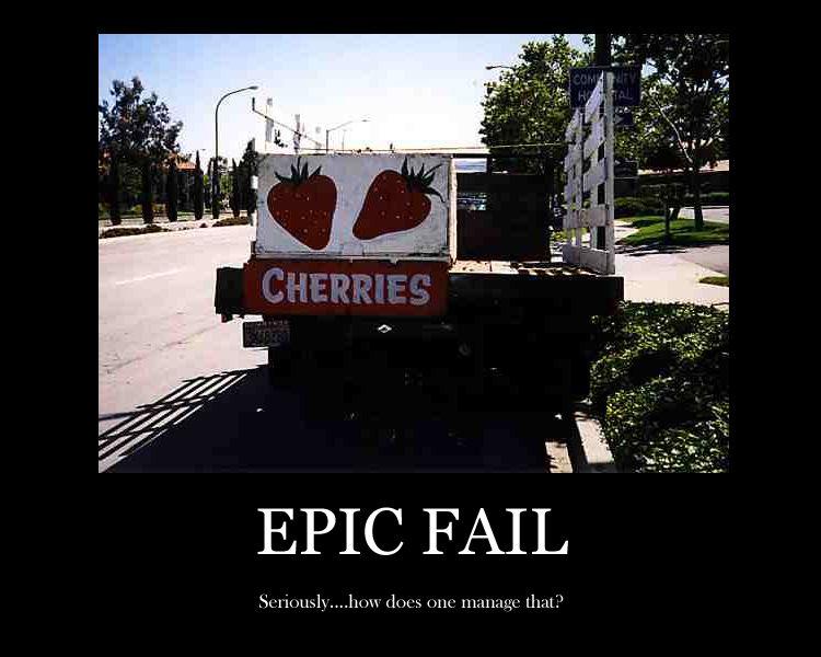 Vorph's Blog: Epic Fail