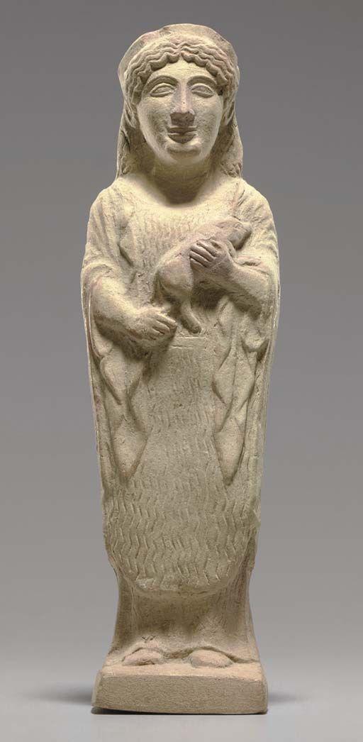 A Greek Terracotta Female Votary Archaic Period Circa Early 5th Century B C Ancient Greece Sculpture Ancient Greek Art Greek Art