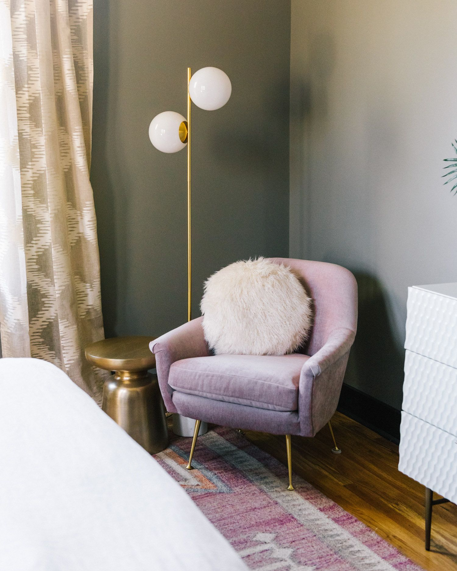 Pleasing A Pink Velvet Phoebe Accent Chair And Staggered Glass Floor Theyellowbook Wood Chair Design Ideas Theyellowbookinfo