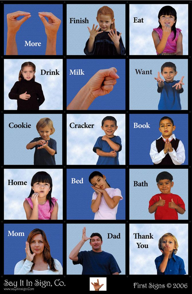 First Signs Poster  ASL Lenticular Poster is part of Sign language - w