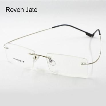 2cf7a2f814 Flexible Titanium Alloy Rimless Eyeglasses Frame for Optical Prescription  Glasses Eyewearmodkily