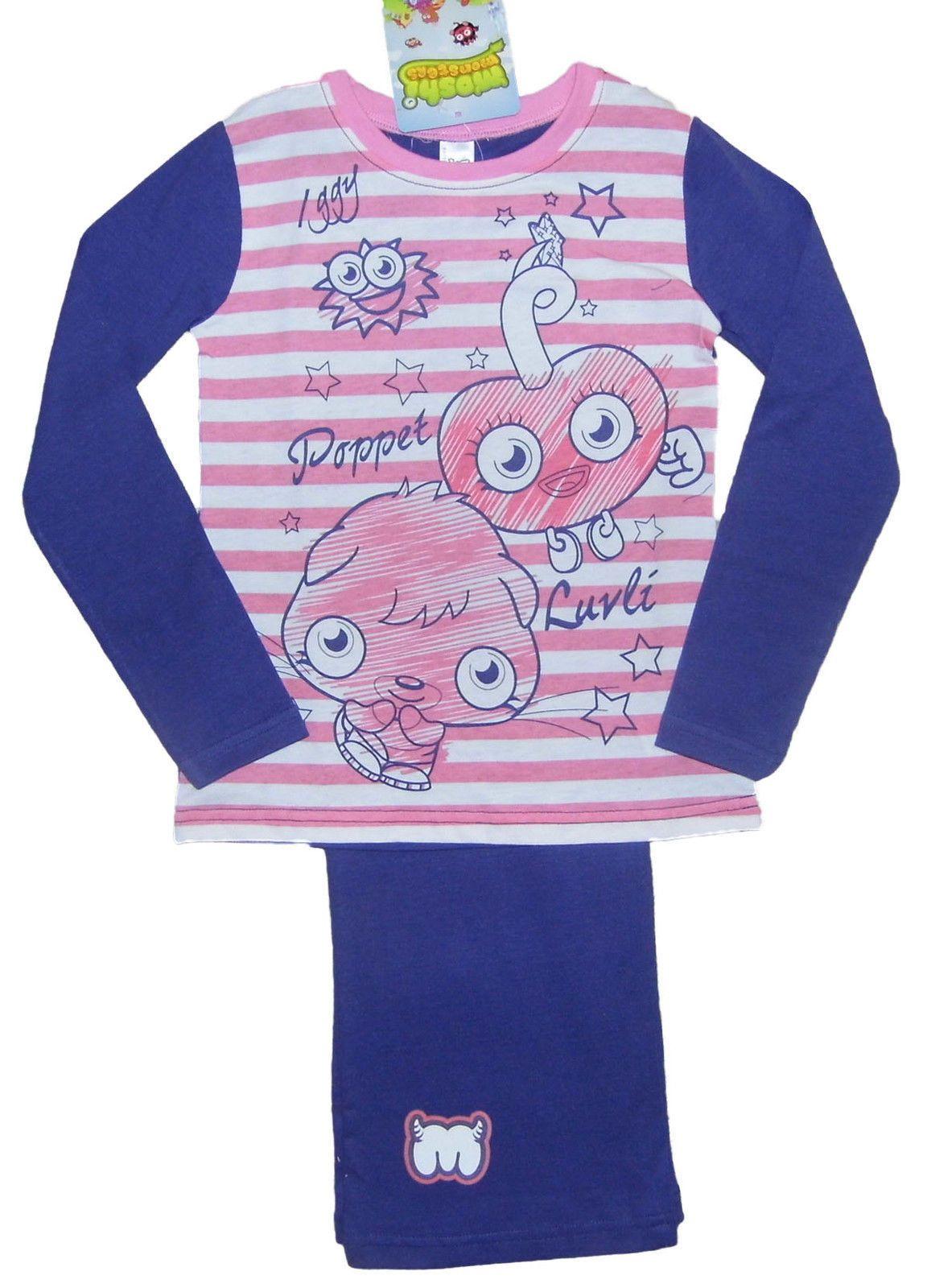 Girls pyjamas nightwear moshi monsters long u