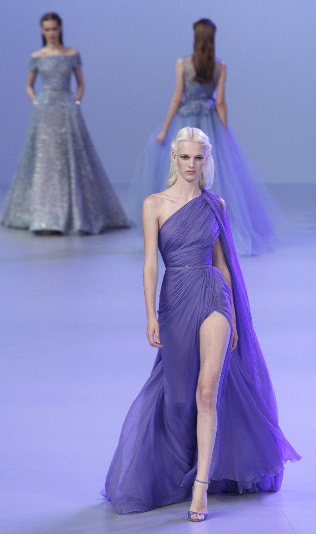 Elie Saab Alta Costura Primavera-Verano 2014 | Vestido asimétrico ...