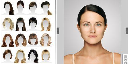Simulador cortes de pelo online mujer