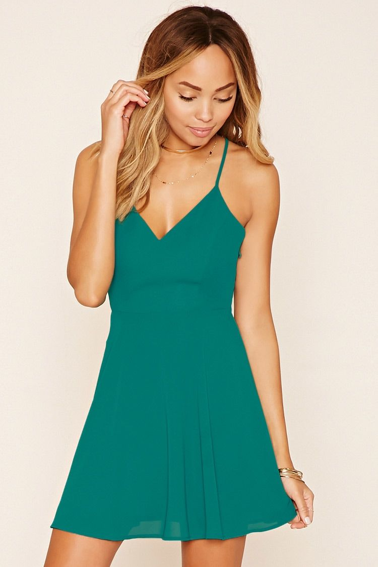 Strappy Chiffon Cami Dress | Forever 21 - 2000221418 | summer ...
