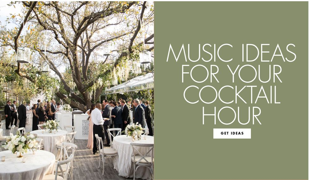 A Charming Playlist for Your Cocktail Hour Wedding music