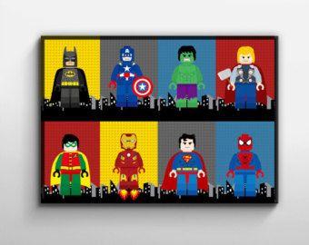 Superhero Wall Art superhero lego | # awesome posters | pinterest | superhero wall