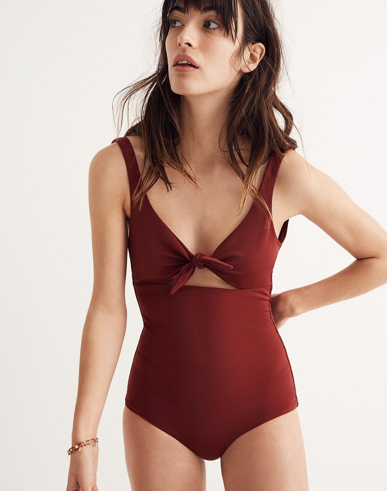 Madewell Womens Mara Hoffman Adeline One-Piece Swimsuit
