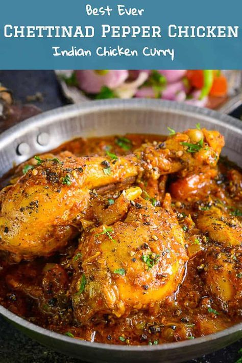 Chettinad Chicken Pepper Fry Recipe Recipes Non Veg Indian