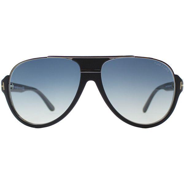 62aa1677a83b Tom Ford Dimitry TF 334 02W Matte Black Aviator Plastic Sunglasses ( 240) ❤  liked