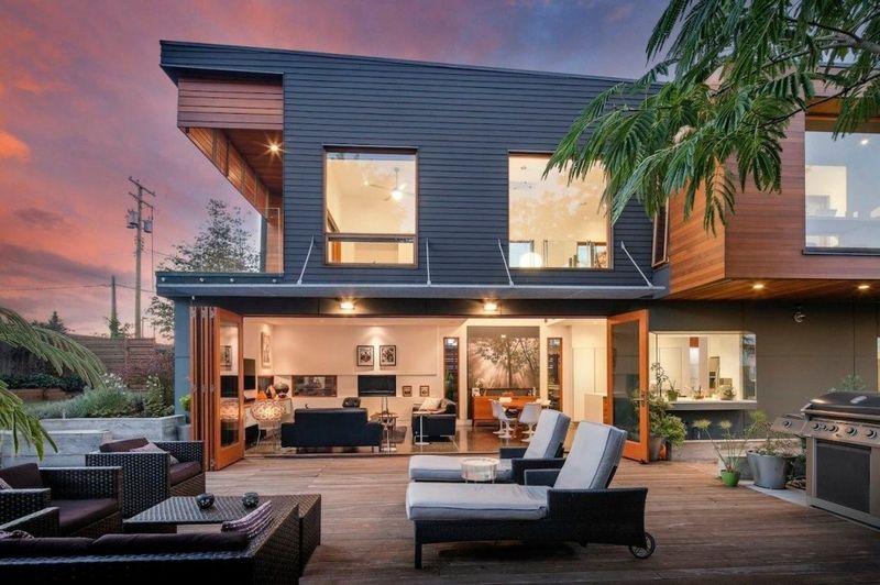 Splendide maison contemporaine en bois à vocation écologique
