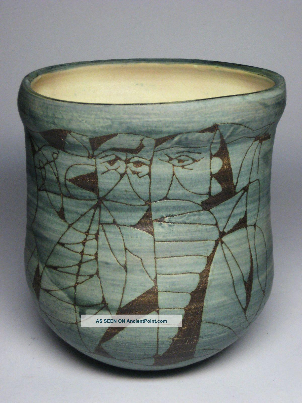 Studio art pottery japanese incised sgraffito etched mid century studio art pottery japanese incised sgraffito etched mid century modern vase vtg mid century modernism reviewsmspy