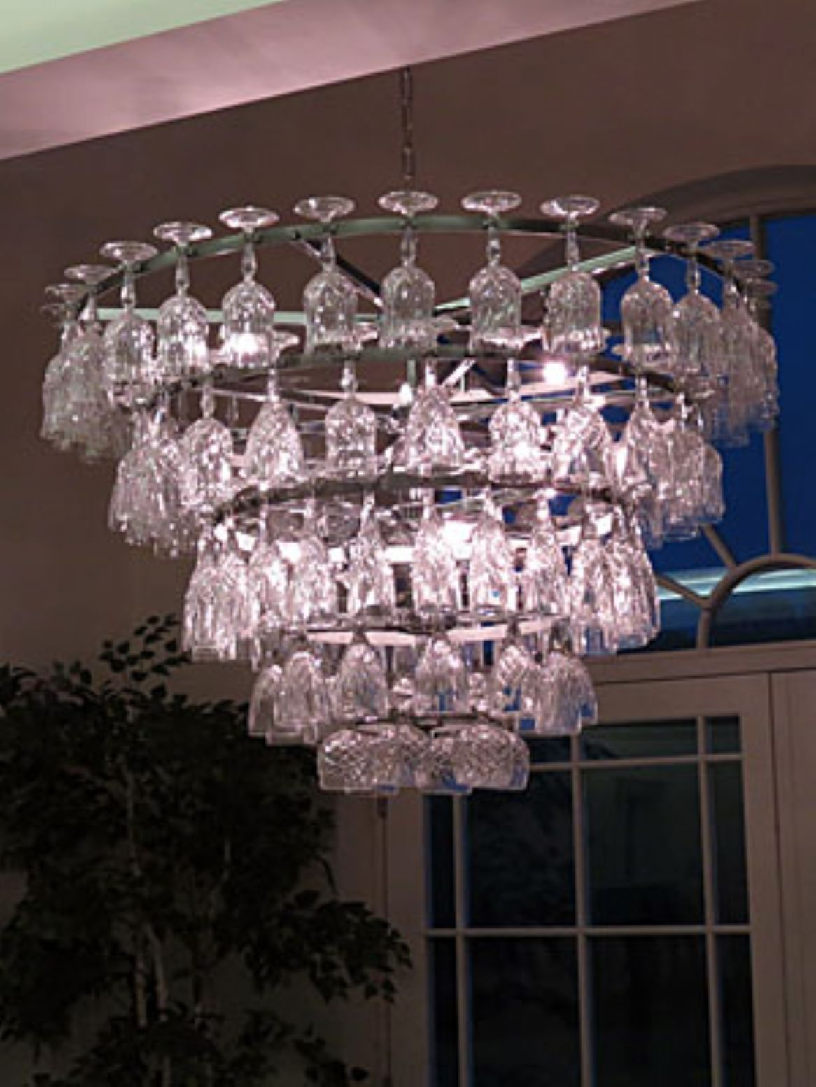 Crystal wine glass chandelier baptist manse pinterest wine crystal wine glass chandelier aloadofball Choice Image