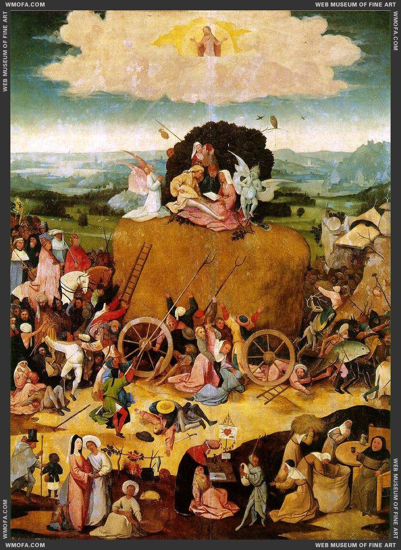 Haywain triptych - central panel - Haywain 1485-1490 Bosch, Hieronymus