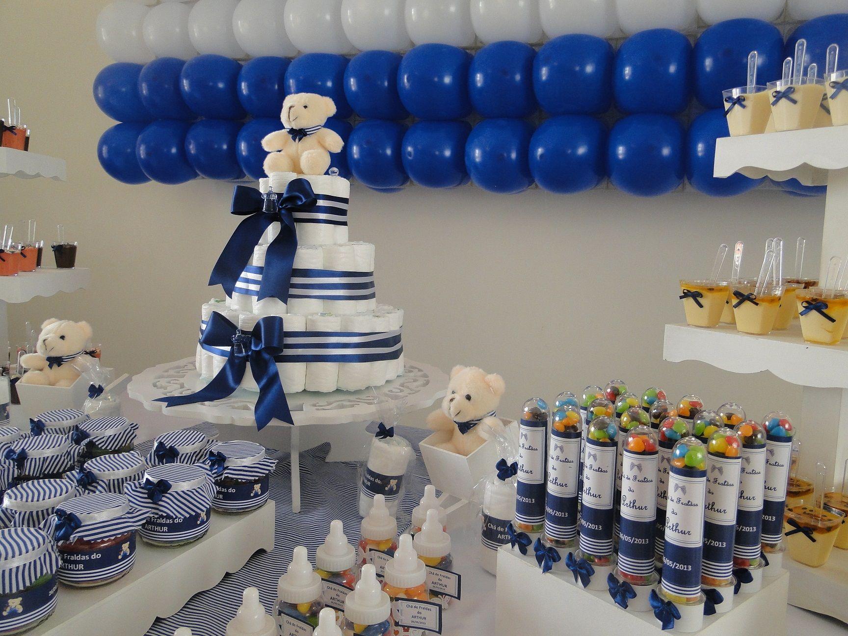 Excepcional azul marinho e branco cha de bebe - Pesquisa Google | idéia de  FQ95