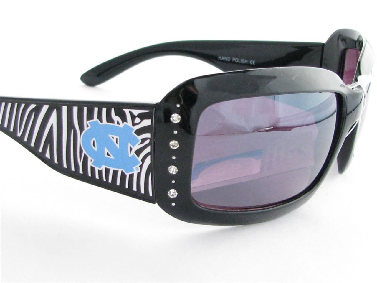 e324f4414388 North Carolina Tar Heels Zebra Womens Sunglasses. North Carolina Tarheels  NCAA Women s Rhinestone Zebra Print Sunglasses Accessories Store ...