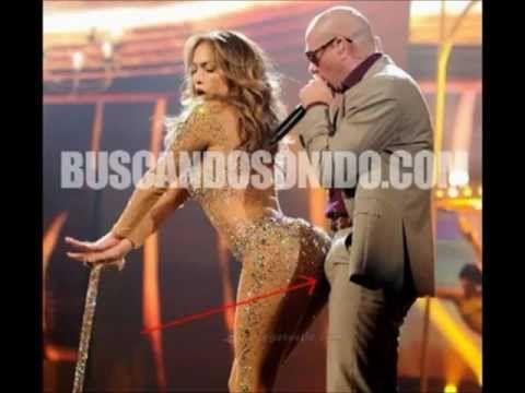 La erección de Pitbull con Jennifer Lopez…