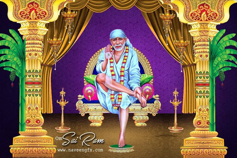 Shirdi Sai Baba Full Screen Hd Wallpaper Sai Baba Big Images Free