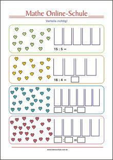 dividieren divisor bis 10 mathe aufgaben f r die 2 klasse mathe mathe dividieren und. Black Bedroom Furniture Sets. Home Design Ideas