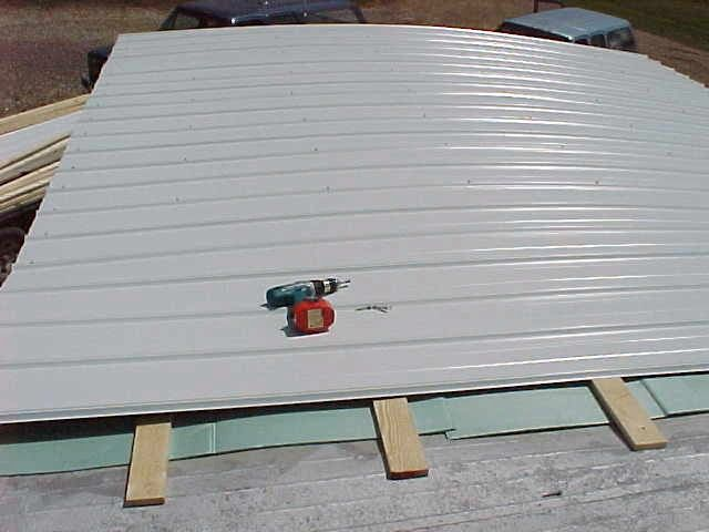 Mobile Home Metal Roof Replacet Install DIY | Mobile, Modular ...