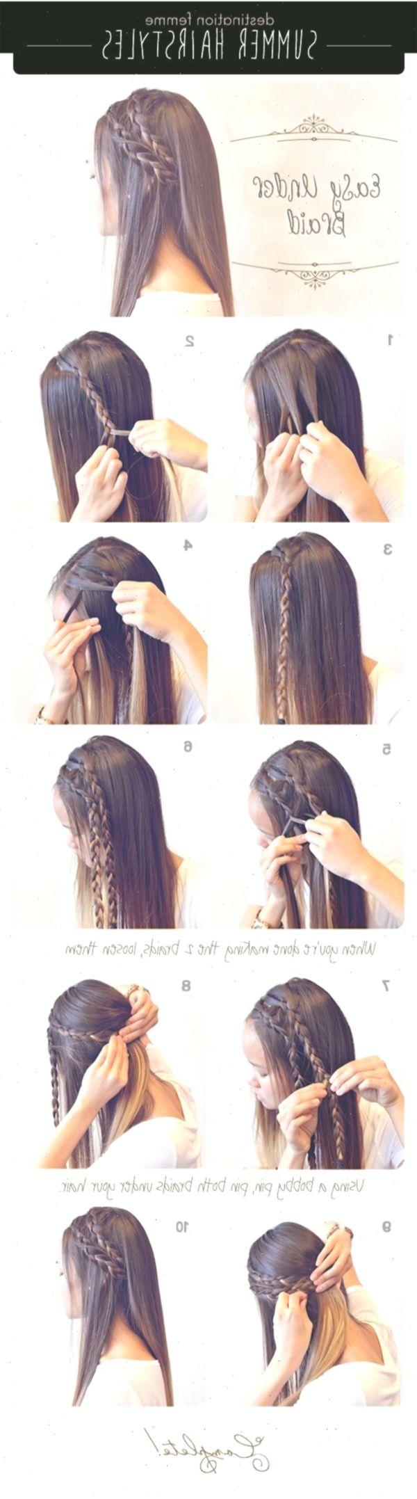 10 + › Sommer Zopf Frisur für Sommer Sommer lange Haare Zöpfe diy