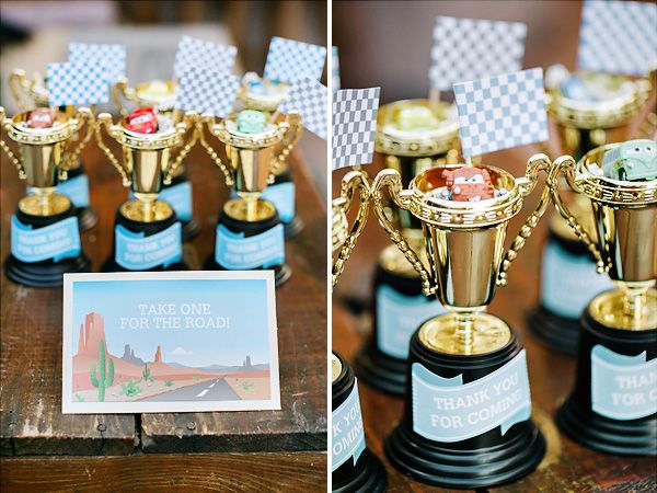 Cars Birthday Party {Welcome to Radiator Springs} // Hostess with the Mostess®Take one for the road favors