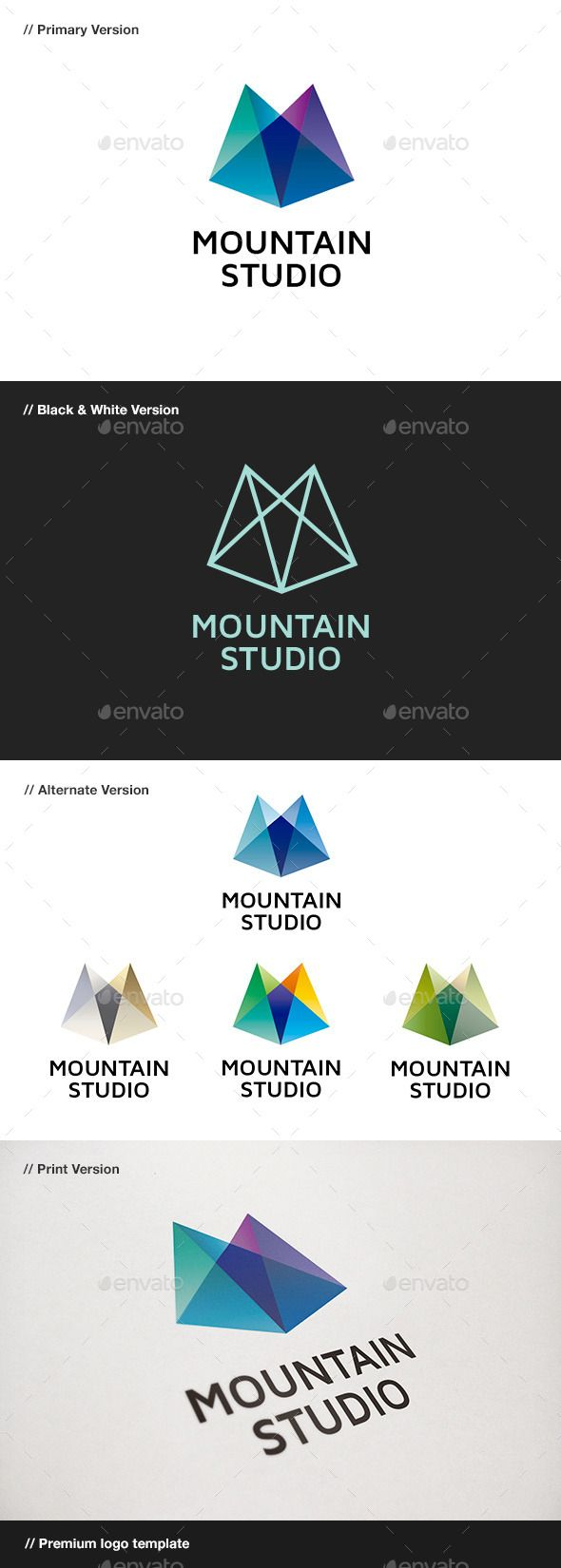 Mountain studio abstract logo software development for Easy to use architectural design software