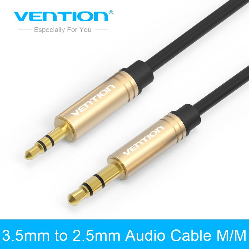 Vention Jack 2.5mm to 3.5mm Audio Cable Gold-plated Stereo Aux Cable ...