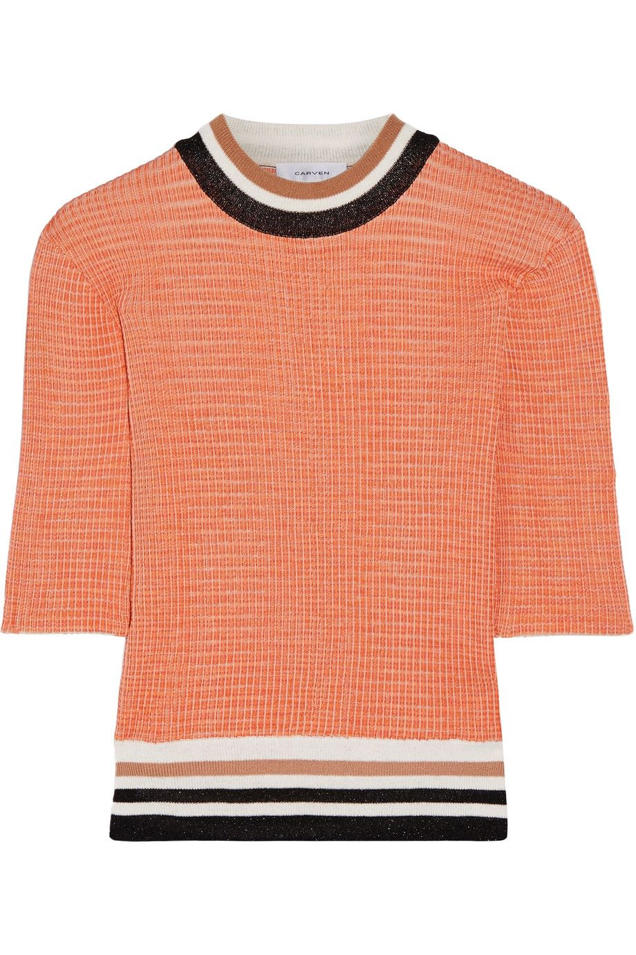 Block A Ribbed Net Color Sweater Porter Carven Knit com vxF5fqxw
