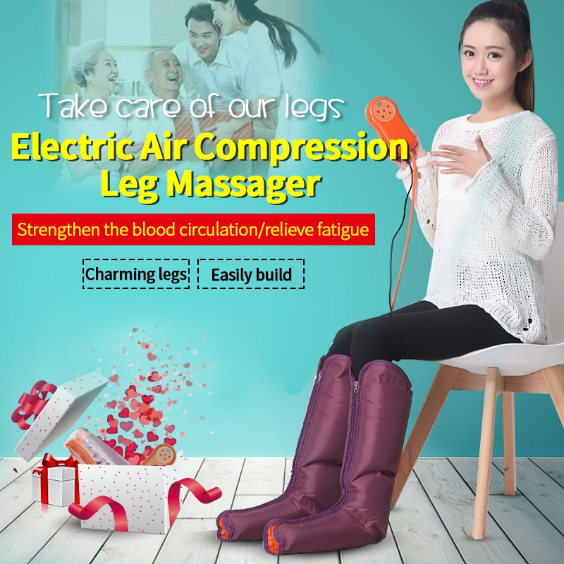 58.65$  Buy now - http://ali7x6.shopchina.info/go.php?t=32783951020 - JinKaiRui Electric Circulation Leg Wraps Healthcare Air Compression Massager Foot Ankles Calf Therapy Slimming Relaxation Massj  #magazineonlinebeautiful