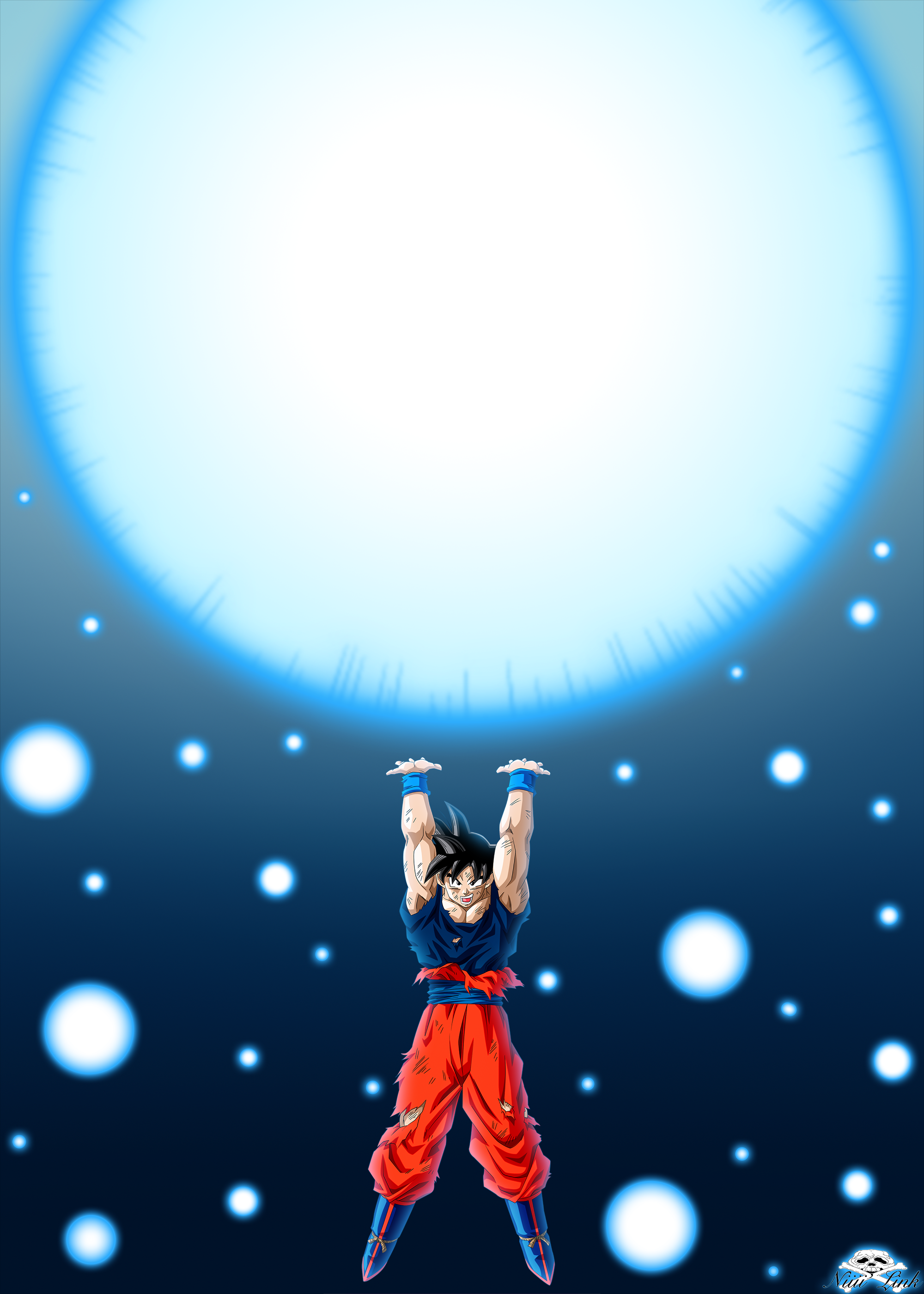 Genkidama By Niiii Linkdeviantartcom On At Deviantart Dbz Dragon