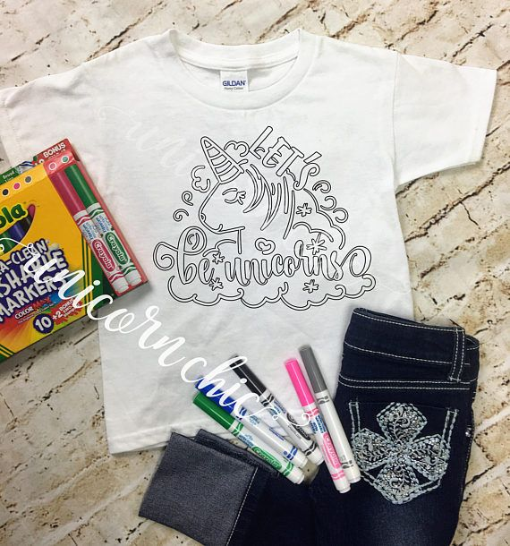 28e54fde0 Color Your Own Shirt Personalized Gift, Gifts for Kids, Christmas Gift, Personalized  Shirt